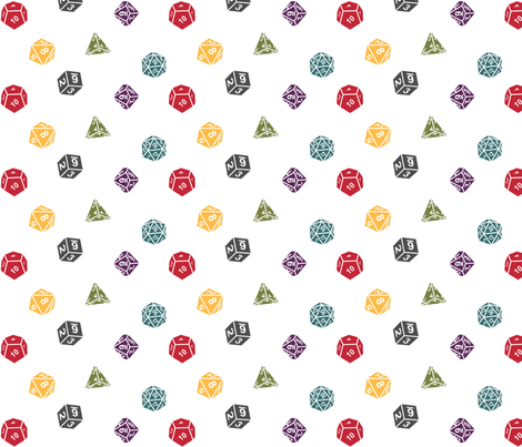 Critical Hit Lawful Neutral fabric by designedbygeeks on Spoonflower - custom fabric