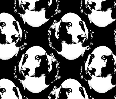 positive / negative (head)space fabric by semi_feral on Spoonflower - custom fabric
