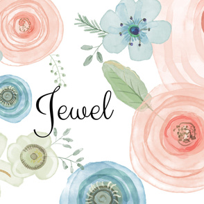 Jewel Watercolor Flowers