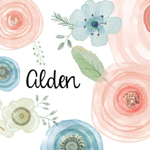 Alden Watercolor Flowers