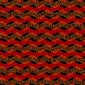 plavron - plaid chevron red