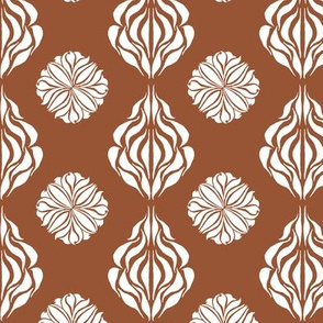 SINGAPORE FLORAL  Warm Brown