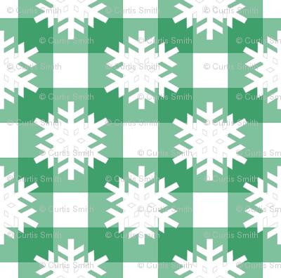 Snowflake Green Checks