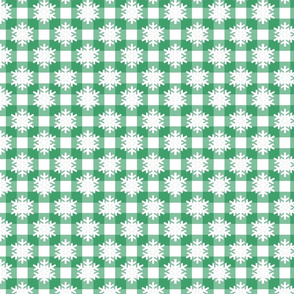 Snowflake Green Checks