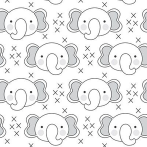 elephant-faces with-grey-ears
