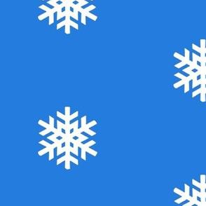 Blue Polka Dot Snowflakes