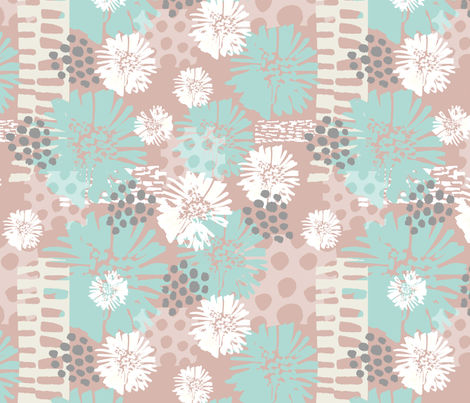 Summer Geo Florals fabric by slumbermonkey on Spoonflower - custom fabric