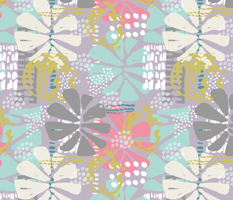 Summer Geo Floral Splash fabric by slumbermonkey on Spoonflower - custom fabric