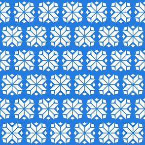 Blue Snowflake Brick Repeat