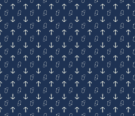 Navy-Corpsman fabric by kstarbuck on Spoonflower - custom fabric