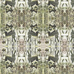 Deco Hare Block Print
