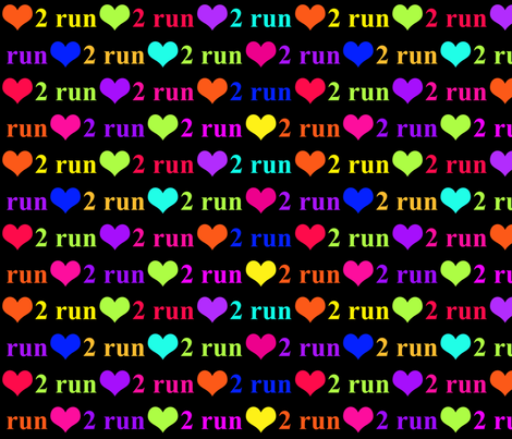 Love 2 Run fabric by bags29 on Spoonflower - custom fabric