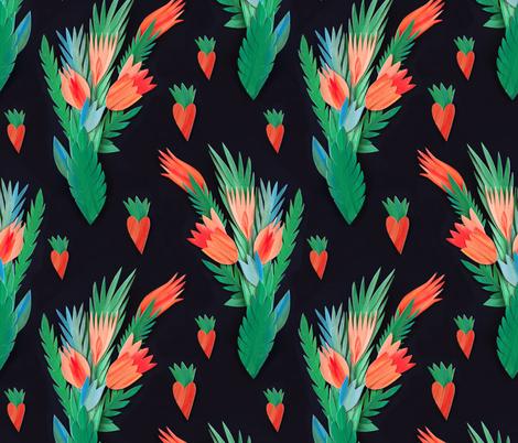 Paper flowers fabric by dariara on Spoonflower - custom fabric