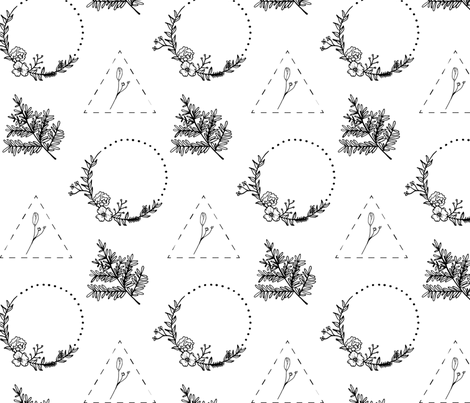 Black and White Botanicals fabric by atate on Spoonflower - custom fabric
