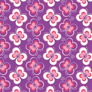 Mod Butterfly Purple