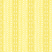 Tribal Warrior Stripe  Lemon Yellow