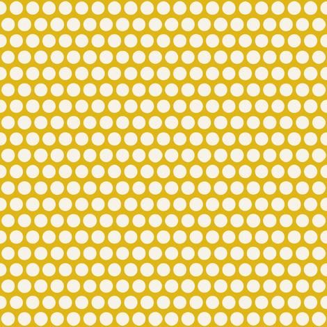 sunbird spot yellow pearl fabric by scrummy on Spoonflower - custom fabric