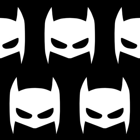 black bat mask fabric by portage_and_main on Spoonflower - custom fabric