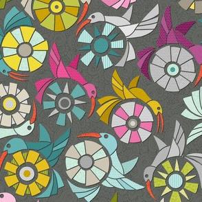 paper sunbirds graphite small