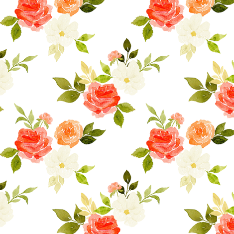 Soft rose fabric by mintpeony on Spoonflower - custom fabric