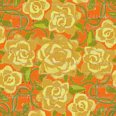 Rtwining_yellow_roses_on_orange_textured_preview