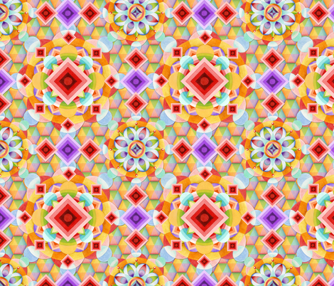 Rainbow Geometric fabric by patriciasheadesigns on Spoonflower - custom fabric