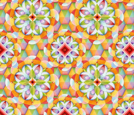 Big Top Mandala fabric by patriciasheadesigns on Spoonflower - custom fabric
