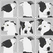 """Little Spotted Dog-6"""" white"""