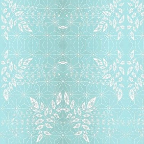 Tropical Blue Damask