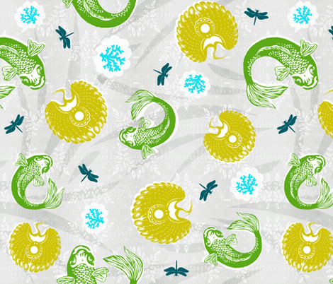 Sea and Sky Lagoon fabric by brainsarepretty on Spoonflower - custom fabric