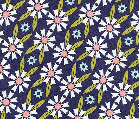 Daisy Chain* (Jackie Blue)    flower flowers floral leaves nature garden trellis stars 70s retro stripes spring summer