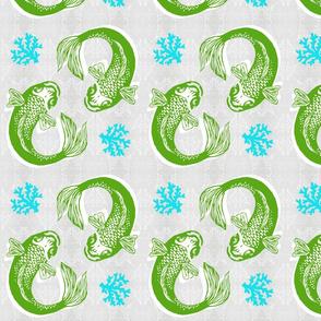 Cool Winter Koi