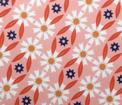 Daisy Chain* (Mona Lisa) || flower flowers floral leaves nature garden trellis stars 70s retro stripes spring summer