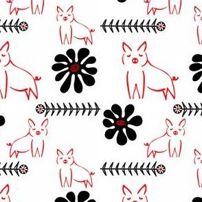 Flowers_and_Piglets sewindigo