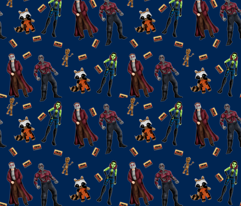 Misfit Space Guards on Dark Blue fabric by costumewrangler on Spoonflower - custom fabric