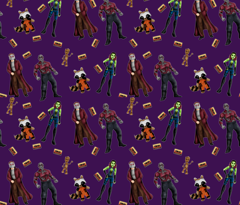 Misfit Space Guards on Purple fabric by costumewrangler on Spoonflower - custom fabric