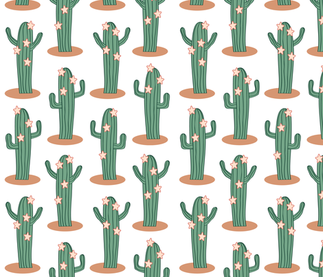 Dancing_Cacti fabric by rmc_australia on Spoonflower - custom fabric
