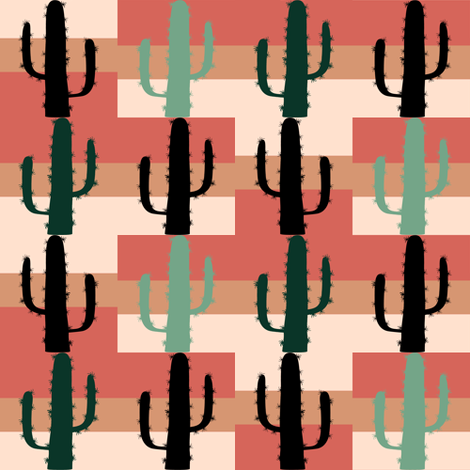 Mesa Cacti fabric by flutterbi on Spoonflower - custom fabric