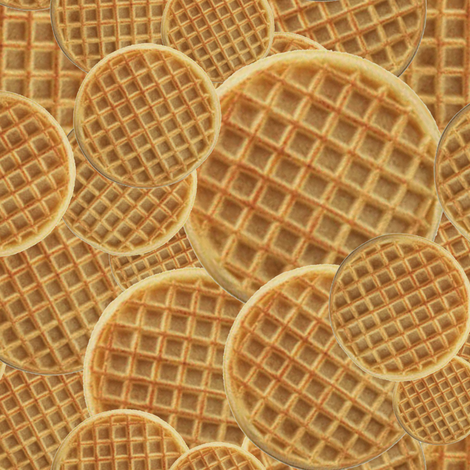 Waffles fabric by costumewrangler on Spoonflower - custom fabric