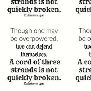 Ecclesiastes 4:12 NIV