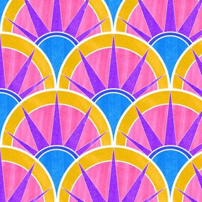 Bold, Bright Art Deco Inspired Fancy Fan