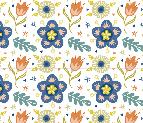 Papercut Floral fabric by suzytaylordesigns on Spoonflower - custom fabric