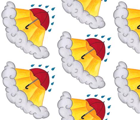 I've Seen Sun and I've Seen Rain fabric by emerson_jones on Spoonflower - custom fabric