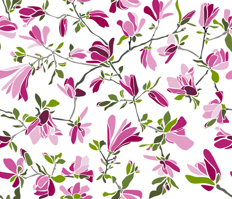 Cutouts Magnolia fabric by juliesfabrics on Spoonflower - custom fabric