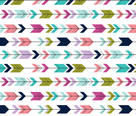 fletching arrows (90)  || good cheer collection fabric by littlearrowdesign on Spoonflower - custom fabric