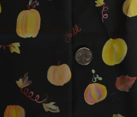 Fall Pumpkins on Black