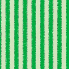 Green Fringed Tinsel Stripes