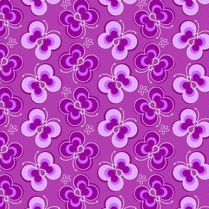 Mod Butterfly Dark Purple
