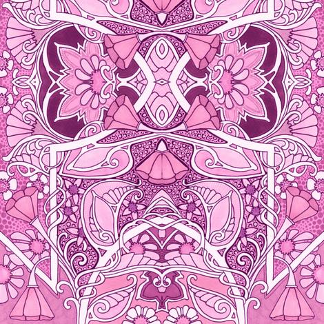 Pink Poppy Easter Egg  Geometry fabric by edsel2084 on Spoonflower - custom fabric
