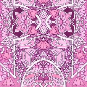 Pink Poppy Easter Egg  Geometry